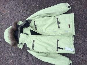 Youth Light Green Winter Jacket