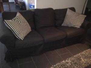 Black IKEA ektorp couch $180
