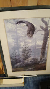 Framed Eagle painting  $60 o.b.o.