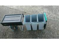 RECYCLE WASTE BIN Kitchen Rubbish Garbage Sliding Pull Out Soft Close Bins