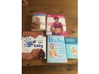 Five baby books for sale