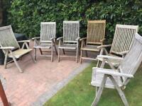 Bramblecrest patio dining furniture 100% plantatation epsom teak £2300 new BARGAIN £250