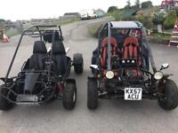 2 x buggies, 1 gs moon std road legal, off road gpz 500