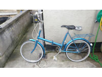 RETRO HALFORDS FOLD UP BIKE 3 SPEED