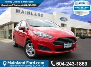 2015 Ford Fiesta SE LOCAL, LOW KM'S