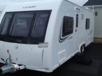2013 luner lexon 640 twin axel with 2 fixed single beds 4 berth end changing room