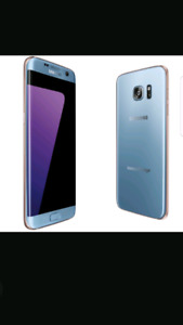 S7 EDGE BLUE CORAL NEUF
