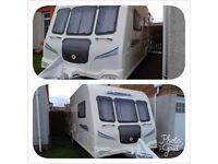 Bailey Pegasus 546 Tourer 2010. 6 Berth . 3 fixed bunks , Single Bed & Kingsized Bed