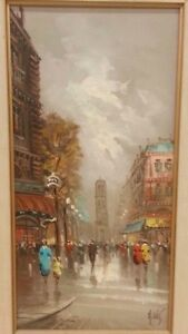 Paris Oil painting Antonio devity original