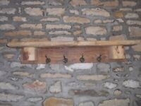 New rustic coat hooks made from reclaimed wood