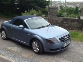 2005 Audi TT 1.8 Roadster Convertible. Pale blue metallic with dark blue roof. Manual. 65000 miles