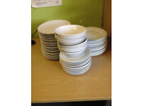 Plates and Bowls from a Lunch Club