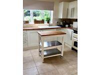 USED - IKEA Kitchen trolley - STENSTORP White/oak - Good Condition - 79(w) x 51(d) x 90(h)cm