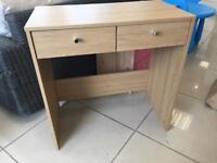 Brand New Light Oak Effect 2 Drawer Desk