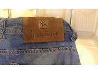 """Billionaire Blue 98% Cotton Jeans Size 42"""" Waist"""