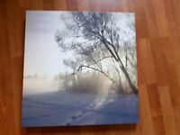 Winter scene large canvas