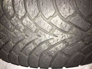 2 - 205/55/16 Goodyear Nordic Snow Tires  -Mounted on Steel Rims
