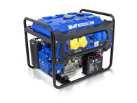 WOLF 7000w 110v 230v Dual Voltage 15HP Petrol Engine ELECTRIC START Generator