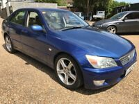 Lexus IS200 SE 1988cc Petrol Automatic 4 door hatchback 52 Plate 23/09/2002 Blue