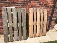 2 X heavy duty wooden pallets
