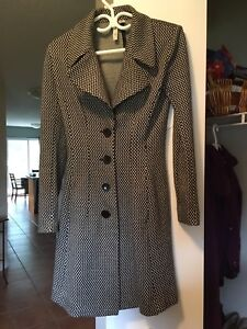 Black and White Long coat size small