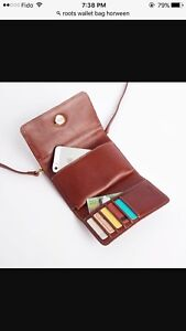 Roots Horween Leather Wallet Purse