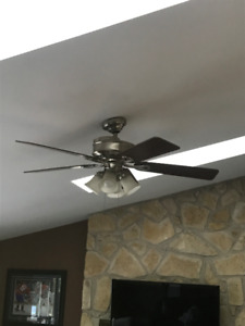 "52"" brushing nickel Ceiling Fan"