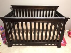 Crib, Chest Dresser, Crib/Toddler Bed Mattress and Bedding