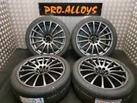 "18"" WOLFRACE ALLOY WHEELS AND NEW TYRES 4x100 4x108 *REFURBISHED ANTHRACITE GREY* mini corsa d"