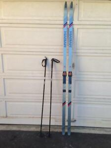 Men's Cross-Country Skis and Poles