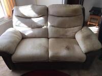 2, 2 seater sofas