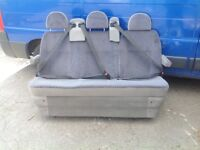 Van 3 person bench seat with seat belts