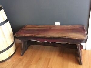 Solid wood antique bench seat