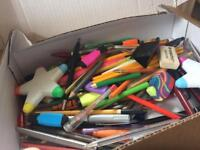 Stationary - pens, pencils, rubbers, etc