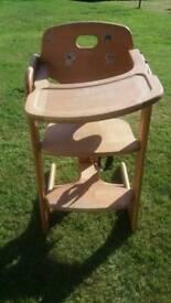 Kids wooden high chair Mamas&Papas