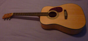 Cort Acoustic Guitar with hard case - Excellent Condition