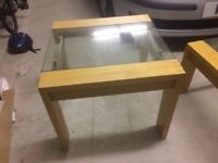 Glass topped coffee & lamp tables will reduce for quick sale