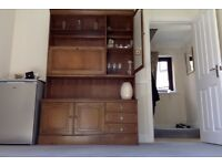 Stag Wall Unit with drinks cabinet & display cabinet - collect Nottingham