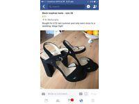 Black Topshop heels - size 39