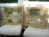 pair of pictures of southport in around the 60s signed