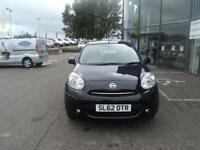 IDEAL FIRST CAR! 2012 62 NISSAN MICRA 1.2 ACENTA 5D 79 BHP **** GUARANTEED FINANCE **** P/EX WELCOME