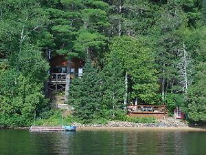 LOG COTTAGE FOR SALE, Corbeau Lake, Notre Dame du Laus, QC