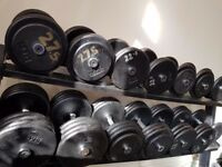 384kg dumbbells and stand