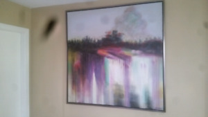 large vibrant abstract painting ...