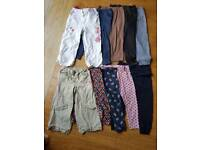10 pairs of girls trousers aged 2-3 years