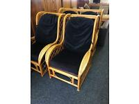 Cane sofa and chairs can deliver