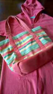 bathing suit cover-up & matching beach bag (cloth)