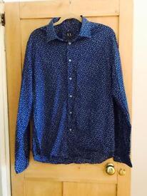Large Armani Exchange Navy Blue Shirt