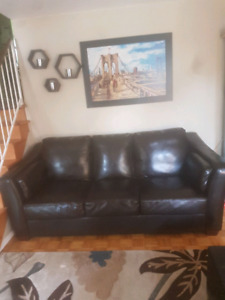 Espresso couch and loveseat  $400
