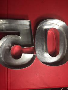 Cake pans, 50, fiftieth birthday, anniversary